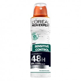 Deodorante Spray Sensitive Control L'Oreal Make Up (150 ml)