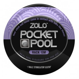 Masturbatore Pocket Pool Rack Em Zolo ZOLOPPRE