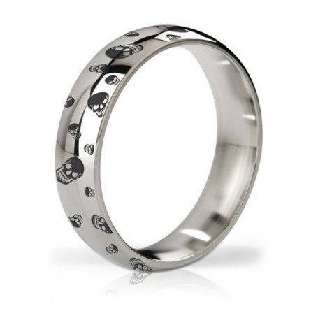 Anello Fallico in Metallo Earl Polished & Engraved Steel Love Mystim