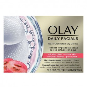 Salviette Struccanti Cleanse Daily Facials Micellar Olay (30 pcs) Pelle normale