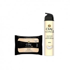 Cofanetto Cosmetica Donna Total Effects Textura Ultraligera Sp Olay (2 pcs)