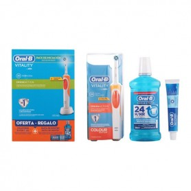 Set di Dentifricio con Spazzolino e Collutorio Vitality Crossaction Oral-B (3 pcs)